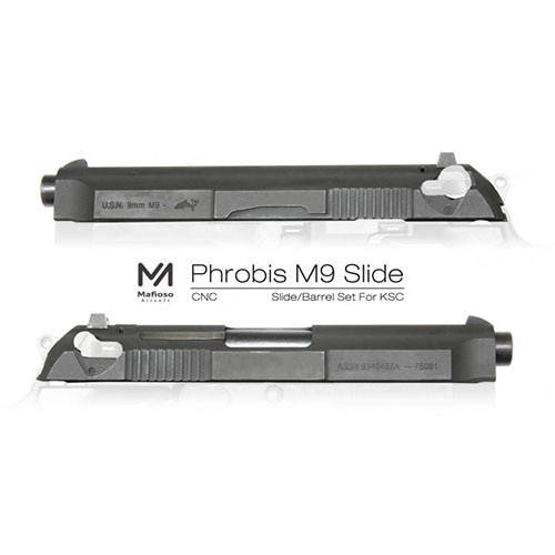 mafioso Airsoft CNC  Phrobis Slide Outer Barrel Set for KSC M9 GBB