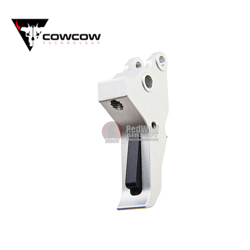 COWCOW Technology AluminiumTactical Trigger Tokyo Marui M&P9 GBB Pistol - Silver