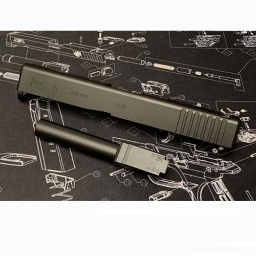 Guns Modify Aluminum Full CNC Slide Barrel Set for Tokyo Marui Model 19 GBB STD Black