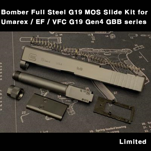Bomber Full Steel G19 MOS Slide Kit for Umarex / EF / VFC G19 Gen4 GBB series   한정판