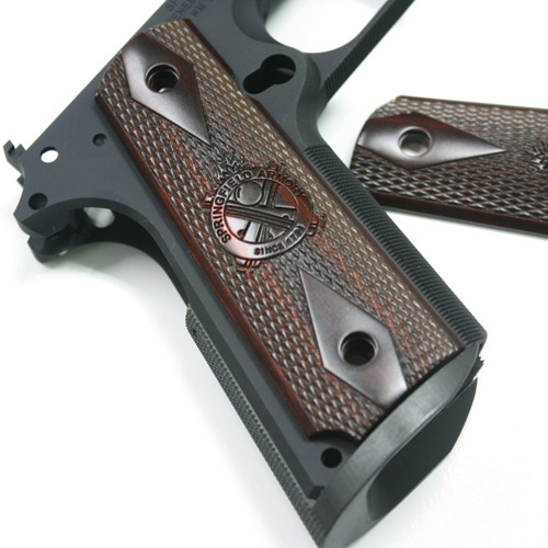 Springfield Armory 'original' Crossed Cannon 1911 Cocobolo MAGWELL Grips FullSize Beautiful