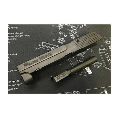 Prime SIG M11A1 Compact CNC Steel Slide & Aluminum Frame Kit for Marui SIG GBB series - DX version