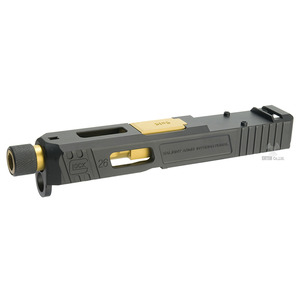 Glock 26 Slide Set for Aluminum Black/Golden Barrel