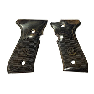 Beretta 92F 92FS M9 M9A1 Blackwood Checkered Pistol Grips