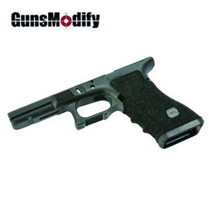 Guns Modify Polymer Gen 3 RTF Frame for Tokyo Marui Model 17 w/ ZE Style Stippling CNC Cut - Black