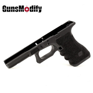 Guns Modify Polymer Gen 3 RTF Frame (Stippling T Style) for Tokyo Marui Model 17 - Black