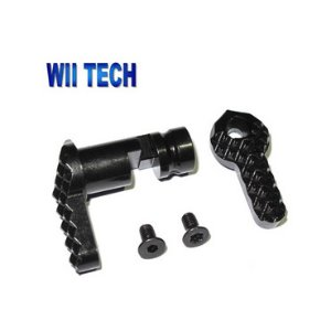 WII Tech社 M4 (T.Marui) CNC Hardened Steel Ambi Selector S style (L-Long, R-Long)