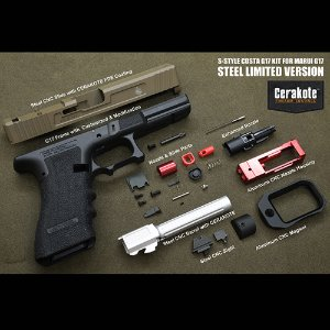 ModelWork Custom Steel S-style Costa G17 RMR Kit for WE/Marui G17/G22/G34