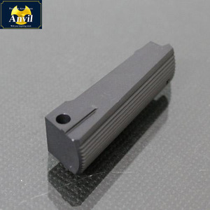 Flat Main Spring Housing(Serrated)-Black for marui