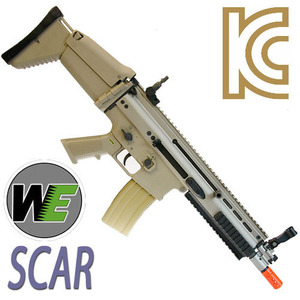 WE. SCAR GBB (Open bolt) :BLACK or TAN