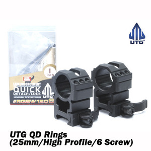 UTG QD Rings (25mm/High Profile/6 Screw)