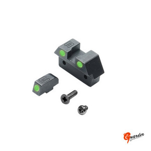 Steel Night Sight for MARUI GLOCK-26 (Green)