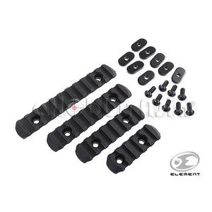 Element 4-Piece Rail Set for Magpul PTS MOE Handguard (Black)